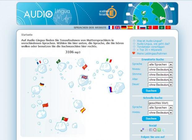 Web de Audio-Lingua