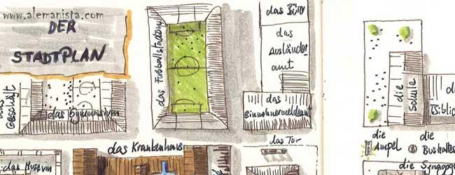 Vocabulario alemán de la ciudad. Palacio de memoria